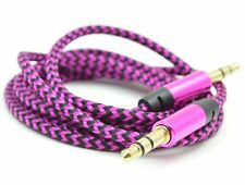 Audio Lead For Headphone Aux MP3 iPod Mobile Jack To Jack Plug Male Cable. 0159