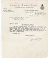 The IMPERIAL TOBACCO COMPANY, Ltd. FinsburyWC1 1932 Duty to pay Letter Ref 46263