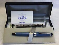 New Sailor Limited Edition Fountain pen Blue star Medium 14Knib with converter