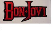 "set of 2 Large Bon Jovi Vintage Iron Patch 80's Heavy Metal 9"""