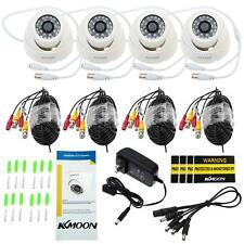4x 800TVL CCTV Security Camera IR Night Vison Kit with 4x 60ft Video Cables K3O7