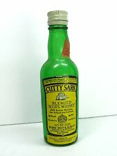 CUTTY SHARK SCOTS WHISKY Empty Miniature LIQUOR BOTTLE 1/10 Pint