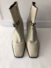Womens Size 9 M * MARKON * Whitney Gray Patent Leather Ankle Boots Shoes