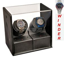 Luxury Display Carbon Fibre look Dual Automatic Watch Winder-Carbon Velvet-MP2
