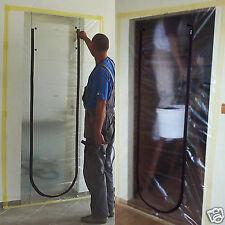 Dust Seal Stop Plastic Door Screen U Zip Renovation DIY Polytunnels Construction