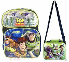 """Disney Toy Story 16"""" Large School Backpack + Insulated Lunch Box Bag 2pc Set"""
