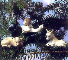 Lladro Mint Nativity, Cow, Donkey And Angel, Rare new in original box