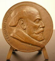 """Medal in the Poet Fernand Gregh Academy French """" le Mot of World """" Medal"""