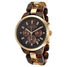 Michael Kors Uhr MK5609 Damenuhr Chronograph Edelstahl Gold Acryl Braun Armband