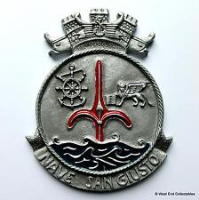 Nave San Giusto - Old Italian Navy Ship Metal Tampion Plaque Badge Crest
