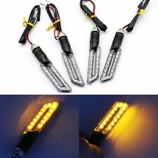 4x 12V Motorcycle Turn Signal Indicator Light LED Front Tail Motorbike Lamp UK