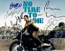 More details for no time to die signed 11x14 photo cast photo by 7 james bond aftal coa