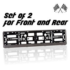 2 x New Carbon Effect Number Plate Holder Frame Bracket for any Saab Car
