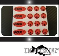 FOX Ovals & Dial Stickers decals Set for the Delkim TXI PLUS EV STD