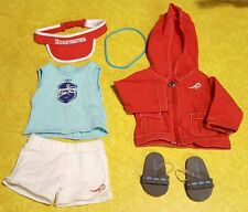 Retired American Girl Doll Today Chrissa Edgewater Swim Team Warm Up Outfit 2009