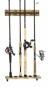Old Cedar Outfitters Organized Fishing Camo Modular Vertical Wall Rack for Fishi