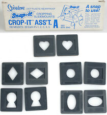 CROP-IT SELECT SLIDE MOUNT 2x2 35mm ASST A:HEART,DIAMOND,KEYHOLE,CIRCLE,OVAL-100