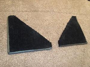 Ford Escort mk2 black carpet sections/corner covers for 4-door.