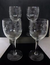 Princess House Heritage Standard Wine Glasses Set of 4