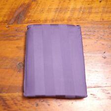 NEW Pair Very Dark Purple Sateen 100% Egyptian Cotton 400 Thread Pillowcases