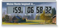 Countdownzeit zur Rente, Countdown-Uhr bis Pensionierung, Restzeit zum Ruhestand