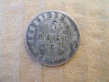 Pièce argent Allemagne 6 KREUZER 1835 HESSEN DARMSTADT