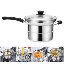 Kitchen Stainless Steel Chip Frying Fryer Deep Fry Pan Basket Set Steaming Pot