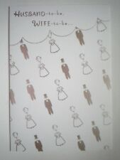 "Hallmark Expressions ~ ""HUSBAND-TO-BE, WIFE-TO-BE..."" GREETING CARD + ENVELOPE"
