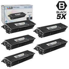 LD Compatible Brother TN650 Set of 5 High Yield Black Laser Toner
