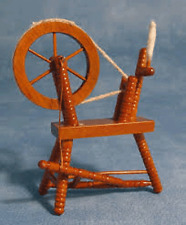 Spinning Wheel, Dolls House Miniature Sewing Room 1/12 Scale wooden 1.12 Scale