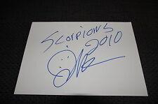 Scorpions james kottak signed autógrafo en 15x20 cm tarjeta de índice inperson Look