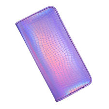 Women Holographic Hologram Laser Leather Wallet Zip Card Holder Purse Handbag