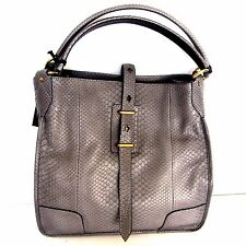 W-1007759 New Belstaff Python Nottingham 38 P Grey Shoulder Bag