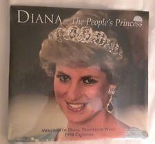 NEW, FACTORY SEALED Diana The People's Princess 1998 Calendar Princess of Wales