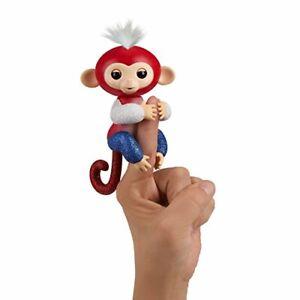 WowWee Fingerlings Glitter Monkey - Liberty (Red, White, & Blue Glitter) - In...