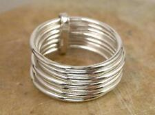 7 DAY RING STERLING SILVER 7 BAND STACKED RING size 6  style# r1227