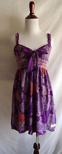 Odd Molly 0 Purple Terry Cloth Dress Smocked Beach Boho Crochet Summer Sundress