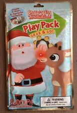 Rudolph The Red Nosed Reindeer Play Pack Coloring Book Crayons Stickers New