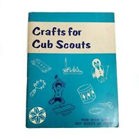Vintage 1973 Crafts for Cub Scouts Book Pow Wow Series Boy Scout of America
