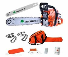 "62cc Petrol Chainsaw with 16"" & 20"" Chains and Bars-TIMBERPRO"