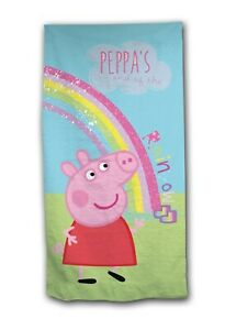 Official Peppa Pig Rainbow Beach Towel 70 x 140 cm