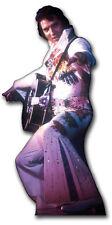 SC-231 Elvis Presley in white jump Suit Lebensgroß Aufsteller Pappaufsteller
