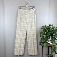 NWT Vintage Bleyle for Hooper 100% Virgin Wool Cream Tan Plaid Pants Size 14 NEW