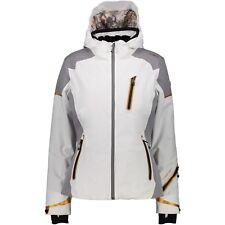 CMP Ski Jacket Snowboard Jacket Woman Zip Hood Jacket White Windproof