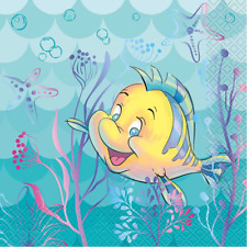 Disney Little Mermaid Flounder Birthday Party Lunch Napkins 16 Pack