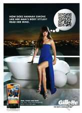 Hannah Simone 1pg clipping 2013 ad for Gillette - bathtub, evening gown