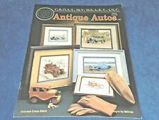 CROSS STITCH PATTERN BOOK - ANTIQUE AUTOS - 5 designs by MELINDA - used