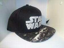 Men's Boys Star Wars Baseball Cap Hat Black Adjustable Snapback One Size New