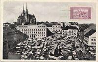 B77925 brno brunn zelny trh mor zem museu  czech republic  scan front/back image