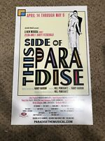 """This Side Of Paradise Original Off-Broadway Poster Window Card  14x22"""" 2010 Rare"""